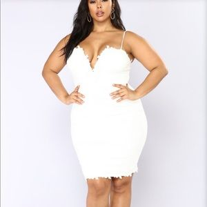 White Fashion Nova Dress